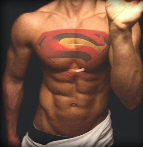 superman logo tattoo on chest superman tattoo hotties pinterest posts i love and nice