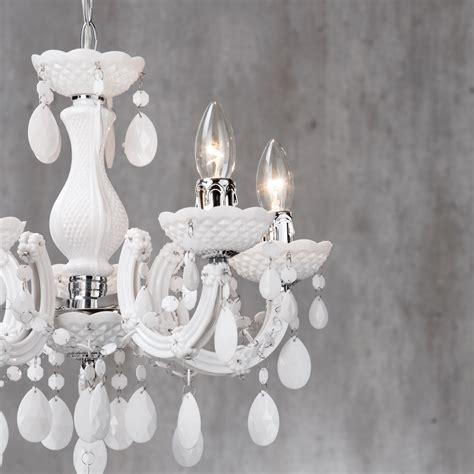 White Chandelier Ebay 5 Light Chandelier Ceiling Lighting Home White