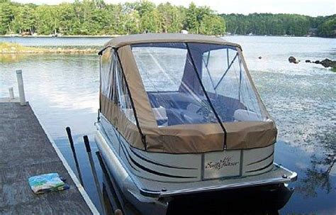 small boat enclosures pontoon enclosures which style is right for you north