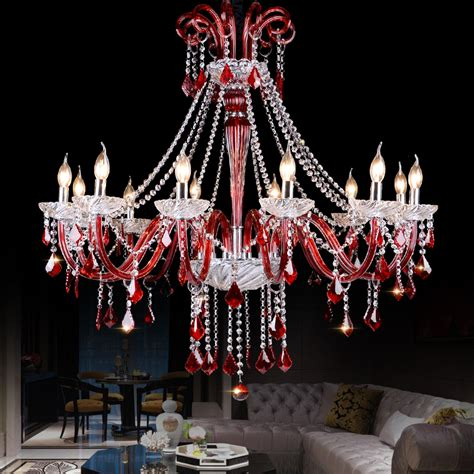 red chandeliers with varied lighting red k9 crystal chandelier lustre crystal chandeliers light
