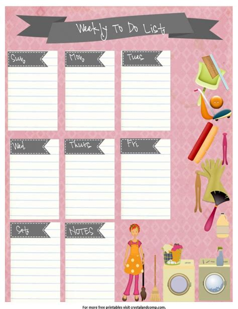 free to free printable weekly to do list crystalandcomp