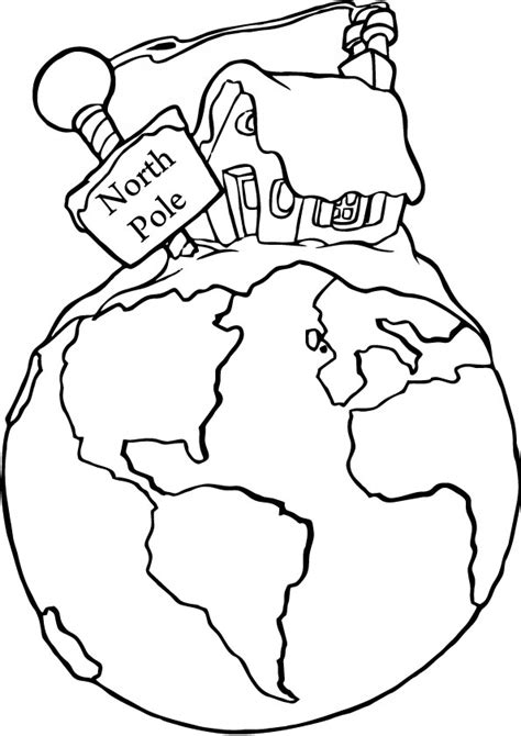 Free Coloring Pages Of North Pole The Pole Coloring Pages