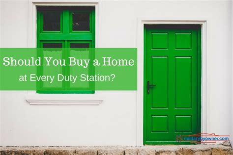 does the army help you buy a house why buy a home at every duty station