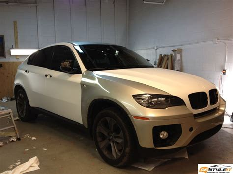 matte white bmw matte white bmw x6 vehicle customization shop vinyl