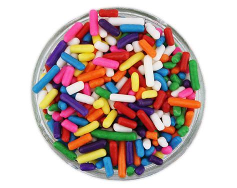Rainbow Bright Decorations by Rainbow Jimmies Bright Rainbow Sprinkles For Decorating