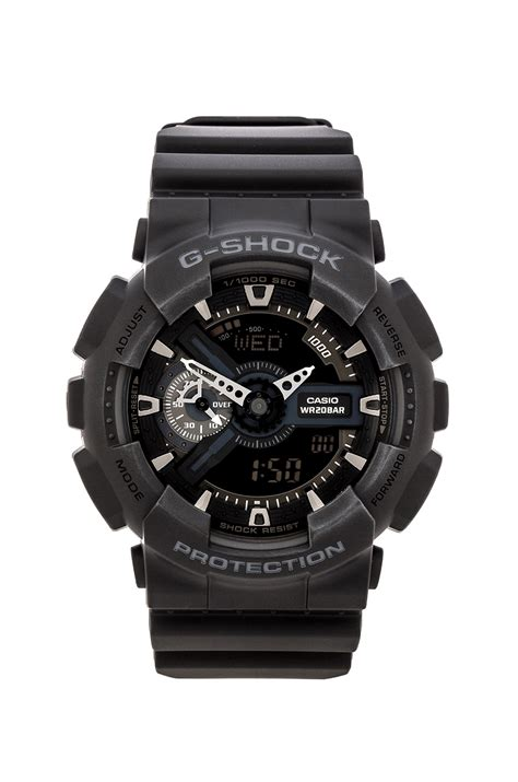 G Shock Ga 110 Graffiti Black Rubber g shock ga 110 in black for lyst