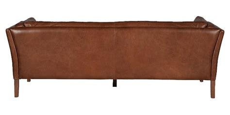 transitional leather sofa with top stitch detail