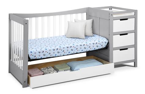 Graco Crib Mattress Size Graco Remi 4 In 1 Convertible Crib And Changer Pebble Gray White Ca Baby