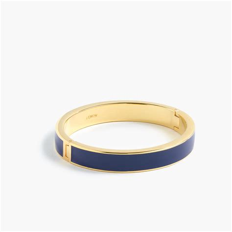 j crew medium enamel bracelet in blue lyst