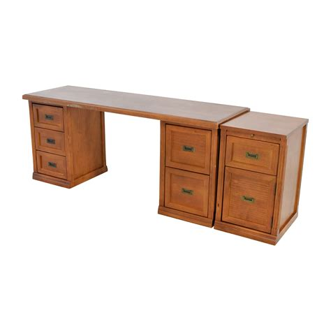 wood desk and file cabinet 64 off unkown large dark wood desk with three filing