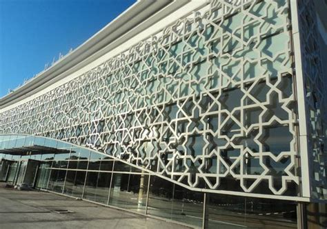 islamic pattern facade rabat sal 233 airport morocco working with architects