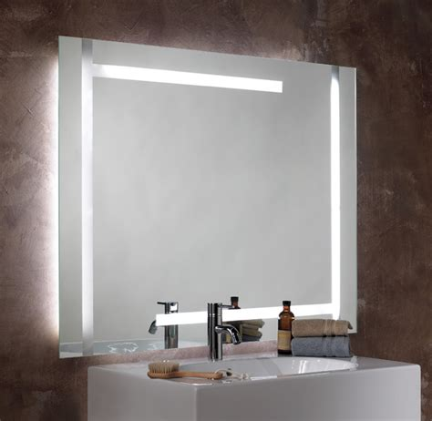 lighted bathroom mirror seura studio lumination lighted mirror