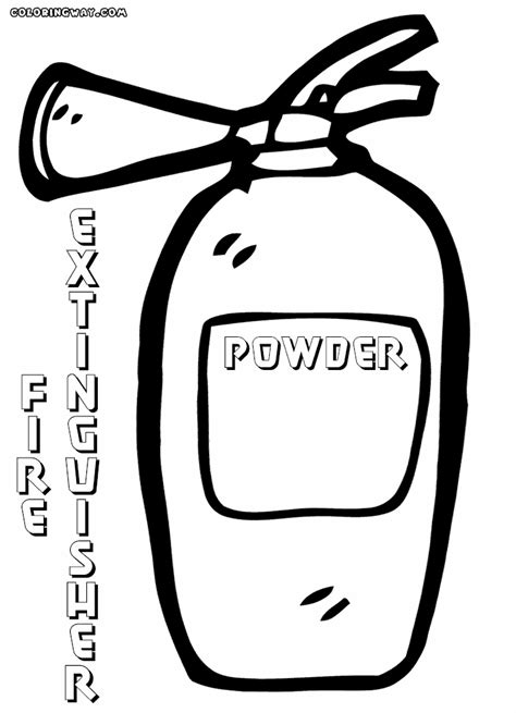 mobile fire extinguisher coloring page coloring pages