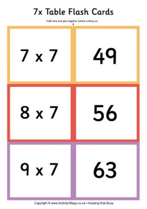 make your own multiplication flash cards times tables flash cards