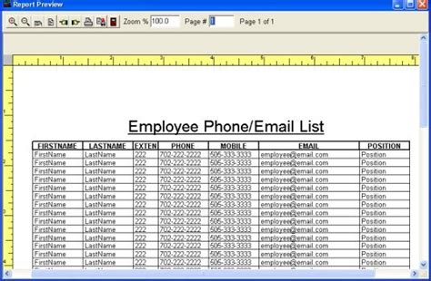 Simple Employee Phone Directory Software For Windows Employee Photo Directory Template