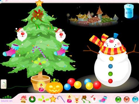 decorate  christmas tree games   interactive