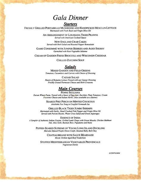 dinner menus carnival cruises gala dinner menu carnival cruises