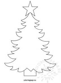 christmas tree template to print coloring page