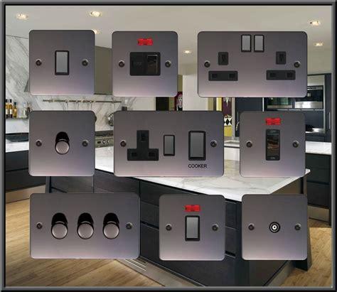 plug in l dimmer flat plate black nickel usb plug sockets standard led