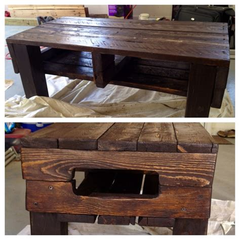 Coffee Table Made Out Of Pallets 78 Best Images About Everything Pallets On Pinterest Outdoor Pallet Planters And Furniture