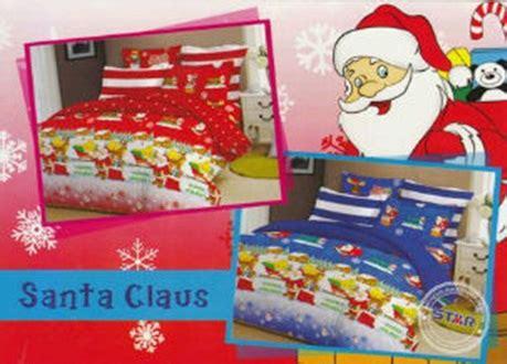 Katun Jepang Natal Santa Merah sprei santa clause grosir sprei bermotif untuk