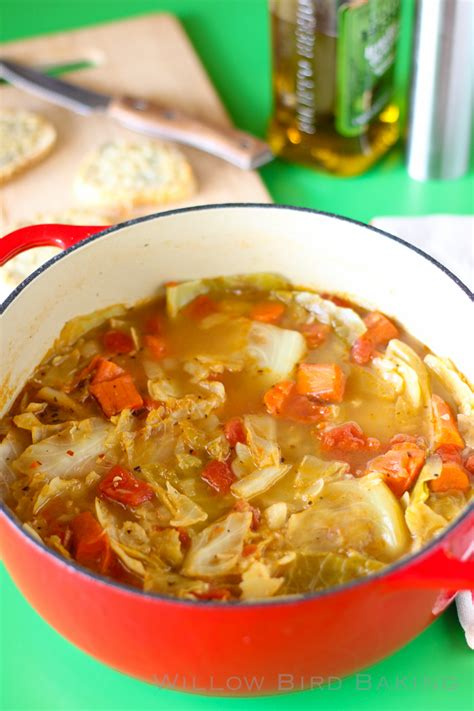 light and healthy cabbage soup cooking
