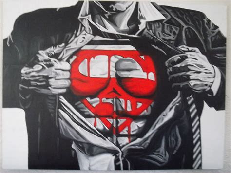 superman painting large acrylic superman painting 30 x 40