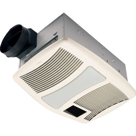 Bathroom Ceiling Light With Fan Nutone Qtxn Series 110 Cfm Ceiling Exhaust Fan With Heater Light Nightlight