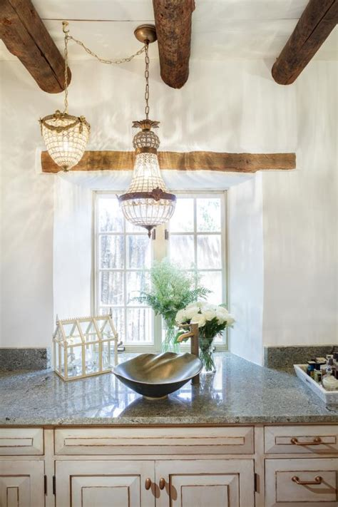 romantic  rustic master bathroom hgtv