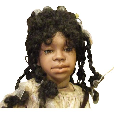 black judy doll charming black doll 24 quot all bisque by judy kapron from