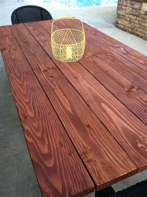 Outdoor Patio Table Tops Pine Tree Home Outdoor Farm Table Finishing The Table Top