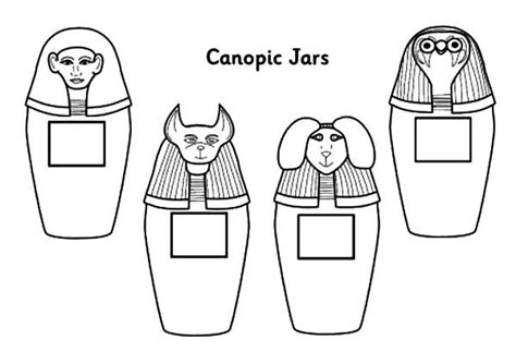 how to color jars canopic jar coloring pages sarcophagus designs