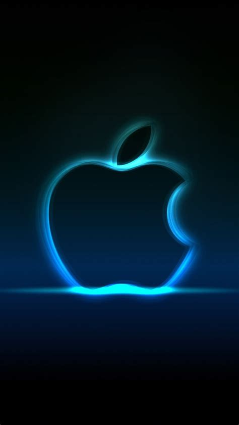 wallpaper apple neon blue neon apple iphone wallpaper 640x1136 iphone 5 5s