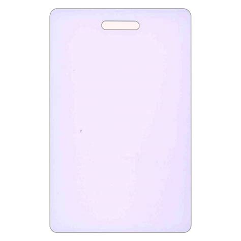 blank plastic card template blank plastic make your own vertical badge card