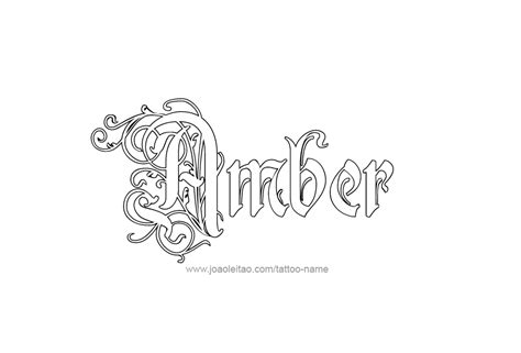 tattoo ideas for the name amber amber color name tattoo designs page 4 of 5 tattoos