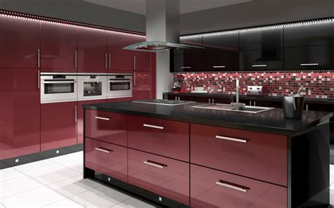red and black kitchen cabinets boston black red kitchen
