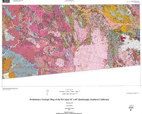 geologic map san jose quadrangle preliminary geologic map of the el cajon 30 x 60