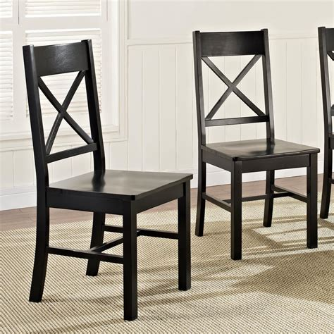 Black Wooden Dining Chairs - walker edison furniture company millwright antique black