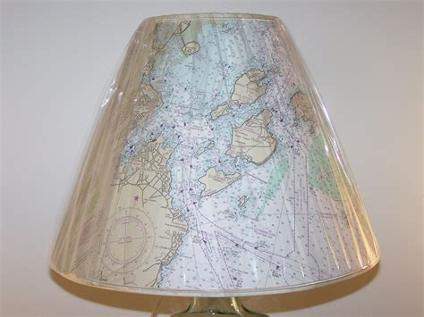 custom made l shades hand crafted custom made nautical chart lshade by