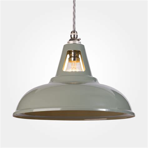 Industrial Pendant Lighting Uk Coolicon Industrial Pendant Light Olive Grey