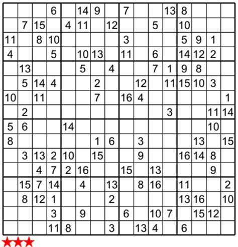 5 best photos of super sudoku 16x16 print monster sudoku super challenger sudoku print related keywords super