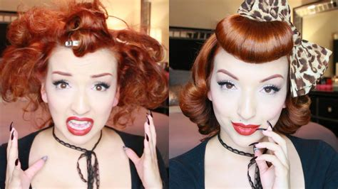 sweet retro pinup hair tutorial