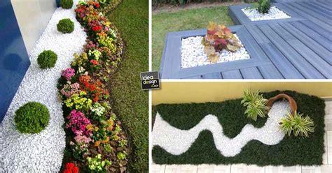 decorazioni giardini decorare con i sassolini in giardino 20 idee creative a