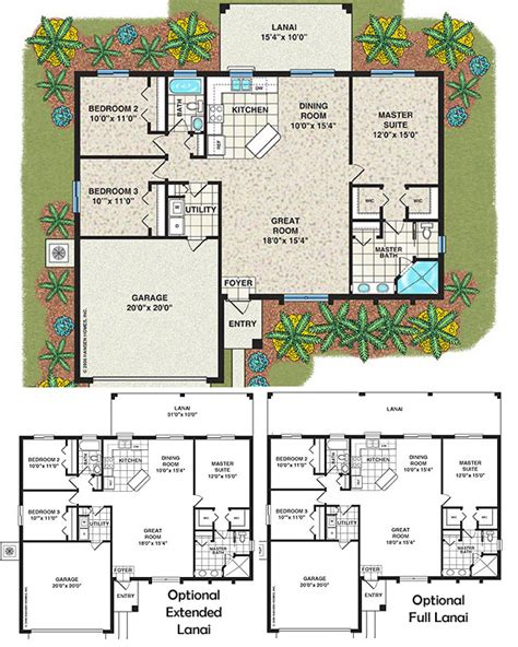 The Islip Home Plan 3 Bedroom 2 Bath 1 Car Garage House Plans 3 Bedroom 2 Bath Car Garage