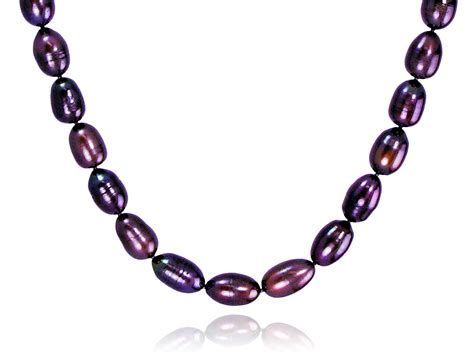 freshwater pearls for jewelry eggplant color freshwater pearl necklace pearls