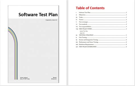 test plan template software test plan images search