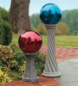 Gazing Ball Stand Ideas Column Gazing Ball Stand 12 Inch High 29 95 Crafted