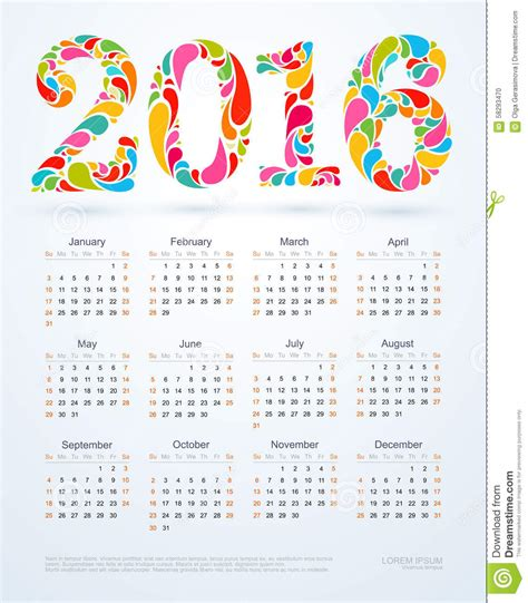 design calendar for 2016 creative colorful 2016 calendar design stock vector