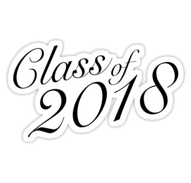 Class Of 2018 Stickers