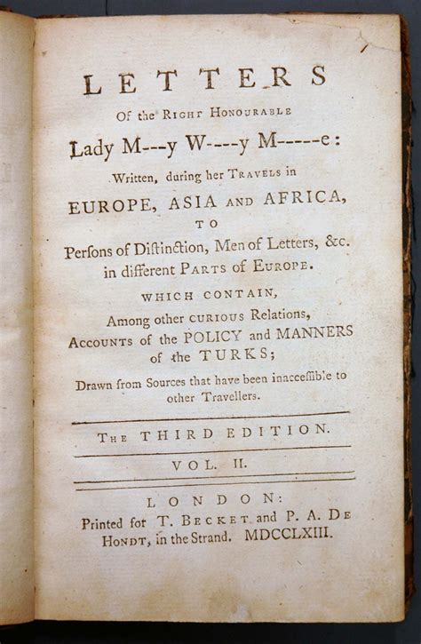 Turkish Embassy Letters Cosmopolites Montagu Turkish Embassy Letters And 1718